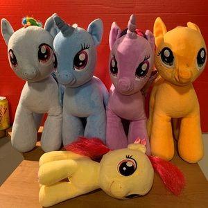"Build A Bear My Little Pony 16"" Plush Lot Of 5"